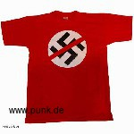 Anti-Hakenkreuz-Girl-T-Shirt, rot