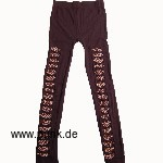 Gelöcherte Leggings, Leopardenmuster drunter