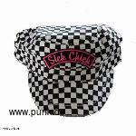 Militarycap black white checker Sickchick patch